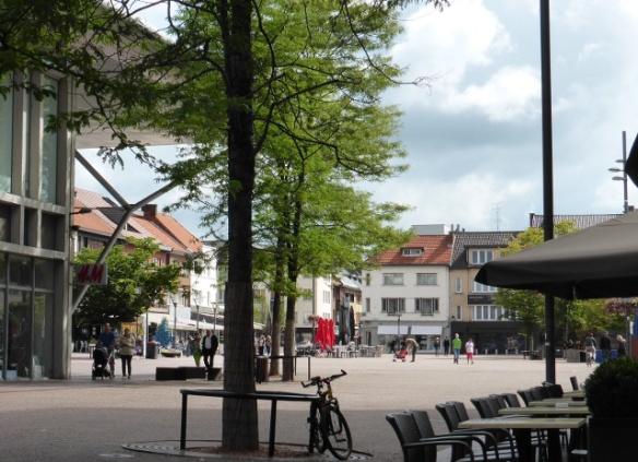 Square in Genk Belgium