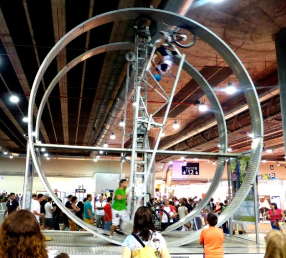 Bike wheel at Unibike cycle show Madrid