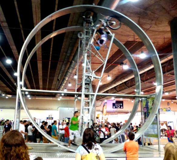 Bike wheel at Unibike cycle show Madrid