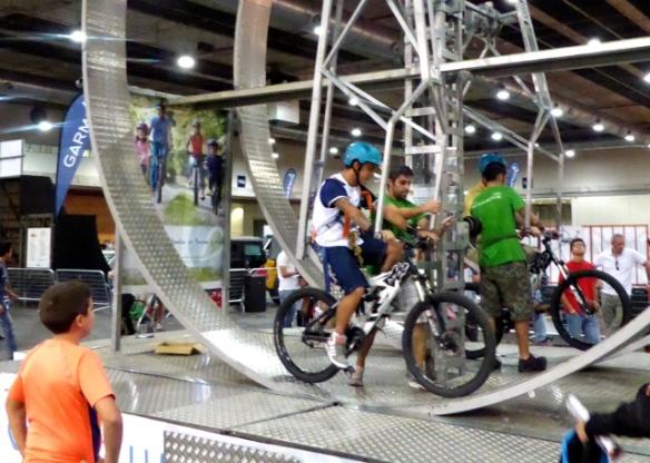 Bike wheel at Unibike Madrid