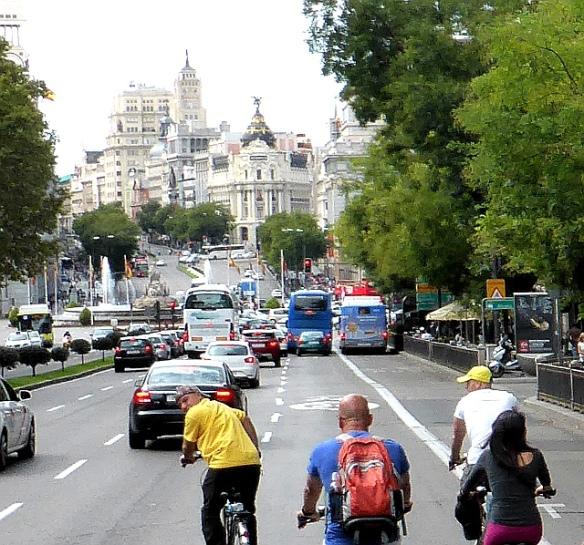 Calle de Alcala Madrid cycling