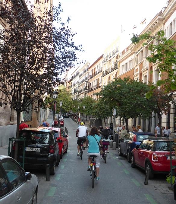 Cycling Malasana minor roads Madrid
