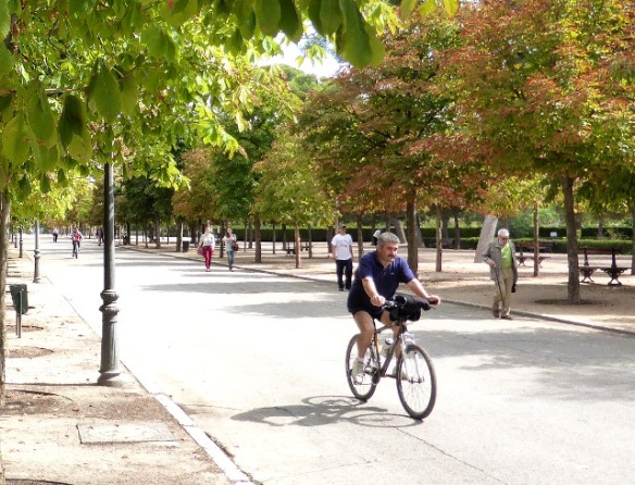 Cycling Retiro Park Madrid