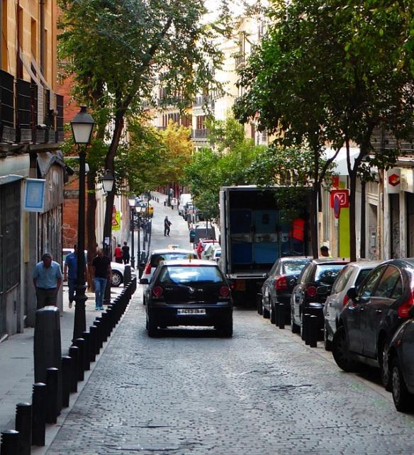 Minor streets for cycling Malasana Madrid