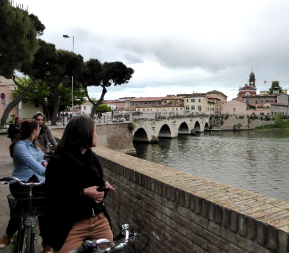 Bike Tour Rimini Tiberius Roman bridge