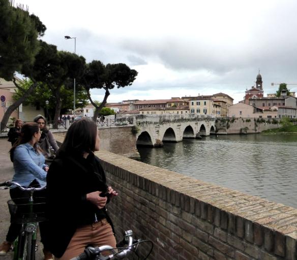 Bike Tour Rimini Tiberius Roman bridge