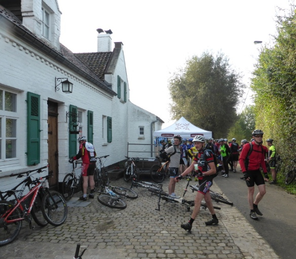 Feed station Belgian mountain bike event 2014