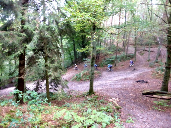 Mountain biking Bois de Reves Ottignies 2014