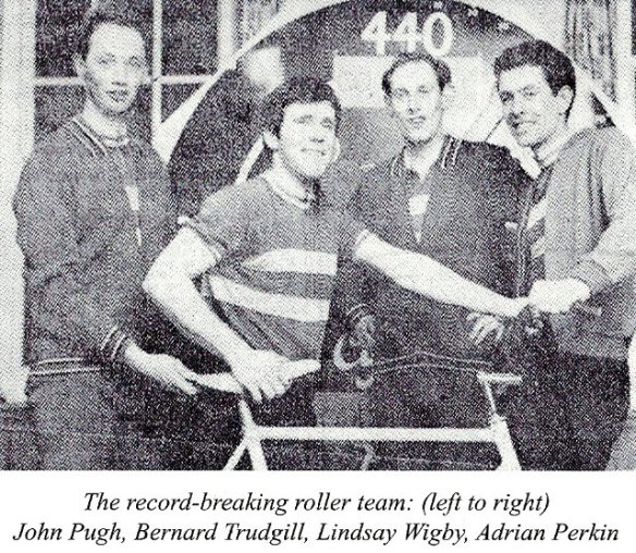 Godric CC World record Roller racing team 1968