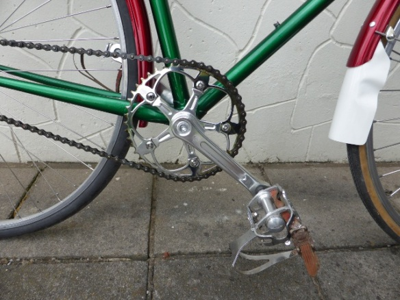 Brick Lane Bikes single speed chainset on Freddie Grubb