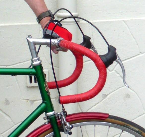 Track handlebars on Freddie Grubb fixie