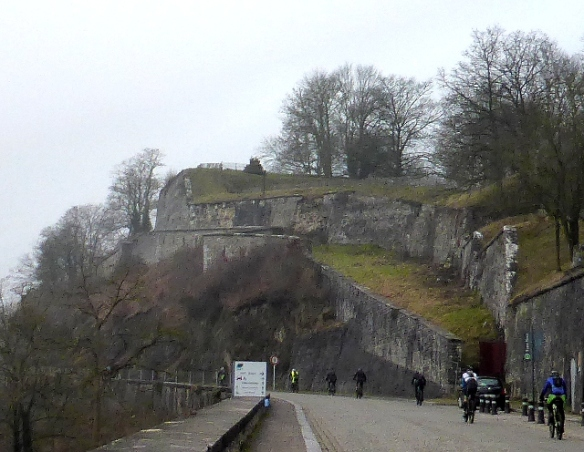 Climbing the Citadelle at Namur