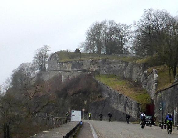 Climbing the Citadelle at Namur