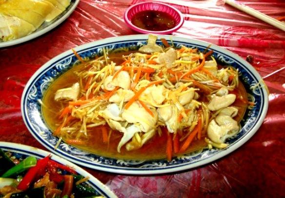 Pigs intestine dish Hakka Cuisine Taiwan
