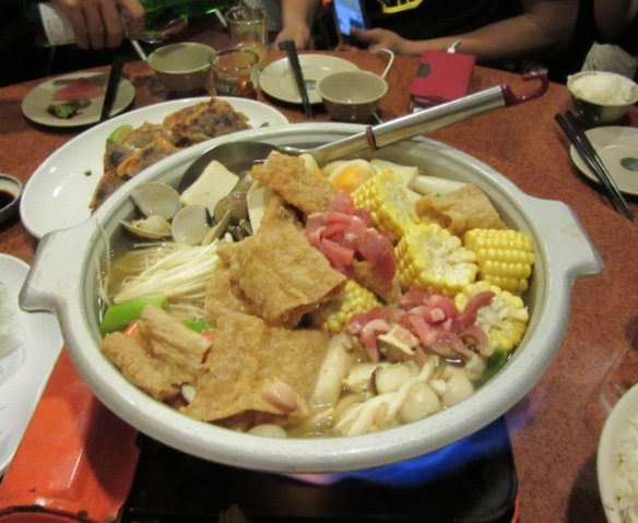 Traditional Hakka style hot pot Taiwan