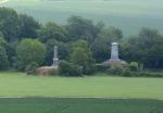 Memorials at Waterloo battlefield