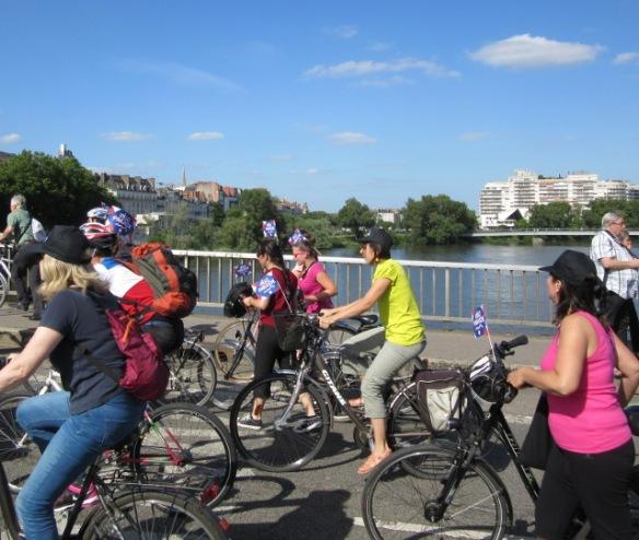 Nantes velo-city 2015 bridge of the Loire