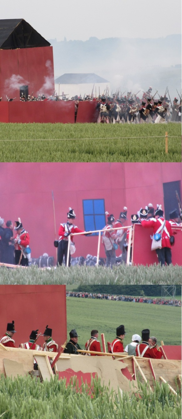 Waterloo 2015 Hougoumont farm reconstruction