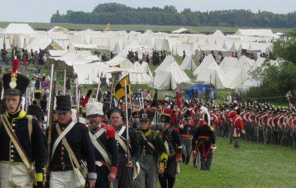 Waterloo 2015 reenacters