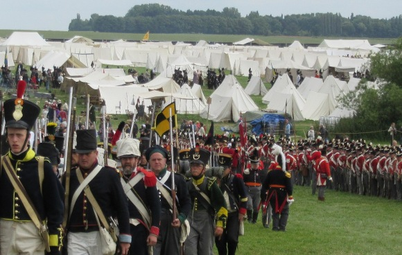 Waterloo 2015 reenacters