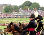Wellington and the Prince of Orange inspect the troops
