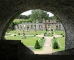 Villers la Ville Abbey through railway arches