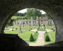 Villers la Ville Abbey through railway arches