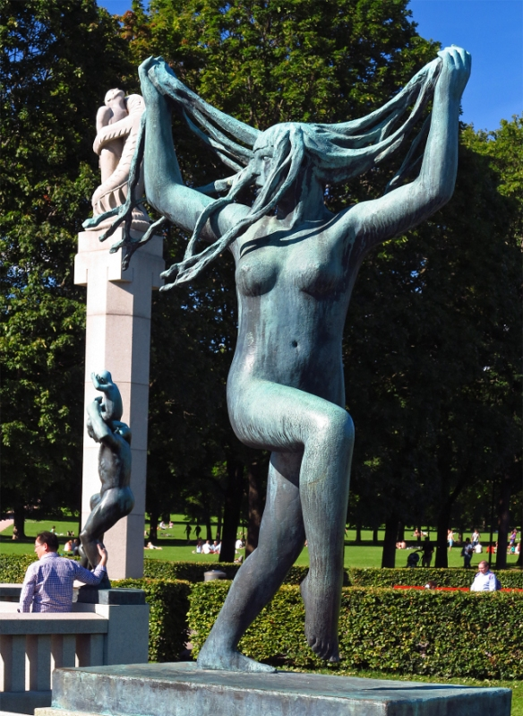 A dancer by Gustav Vigeland Oslo Norway Photo by Morten Kerr