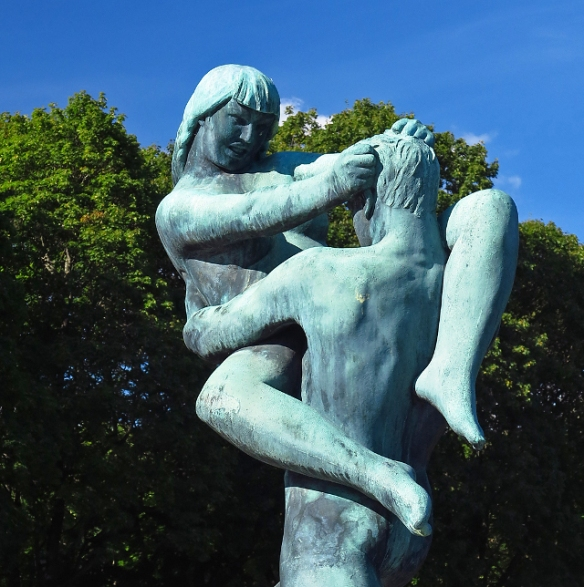 Bronze dancers by Gustav Vigeland Oslo Norway Photo by Morten Kerr