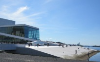 Oslo Opera House and fiord view