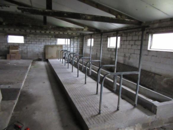 Milking shed as bike shed Belgium