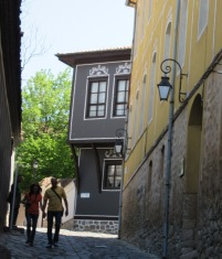 Old city houses Plovdiv Bulgaria