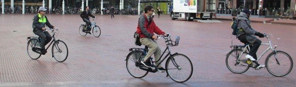 Ducth style cycling Amsterdam 2013