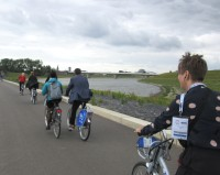 Waal river cycle paths Nijmegen Cities for Cyclists Network Day 2017